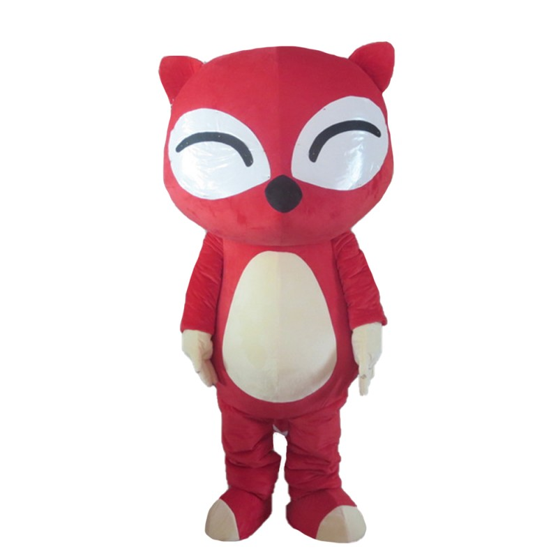Super Cute Cartoon Red Fox Mascot Costume For Party