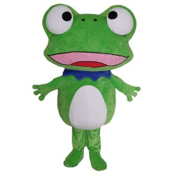 Funny Cartoon Big Eyes Frog Mascot Costume For Celebrations
