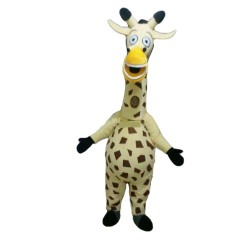 Funny Cute Cartoon Milky Giraffe Mascot Costume For Adult