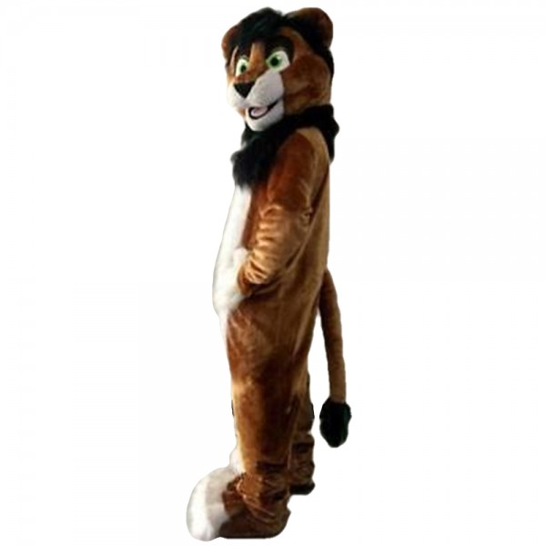 Long Fur Happy Lion Mascot Costume For Party