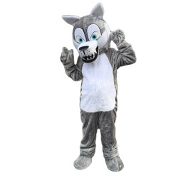 Hot Selling Cartoon Plush Grey Wolf Mascot Costume