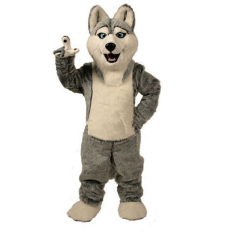 Hot Selling Friendly Grey Dog Mascot Costume For Event