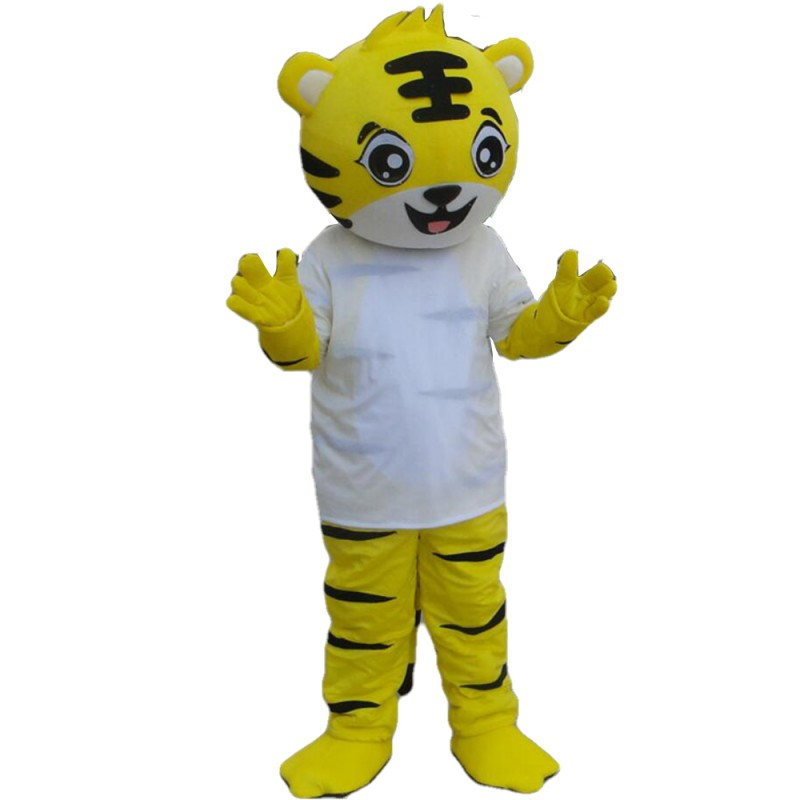 So Lovely Cartoon Yellow Tiger Mascot Costume For Party