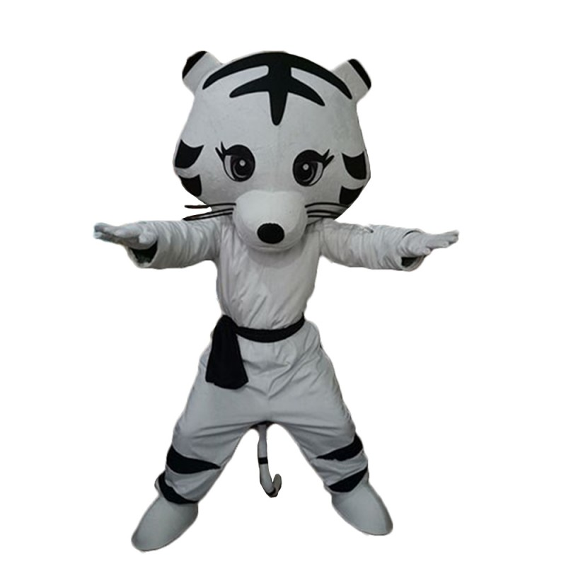 High Quality Lovely Taekwondo White Tiger Mascot Costume
