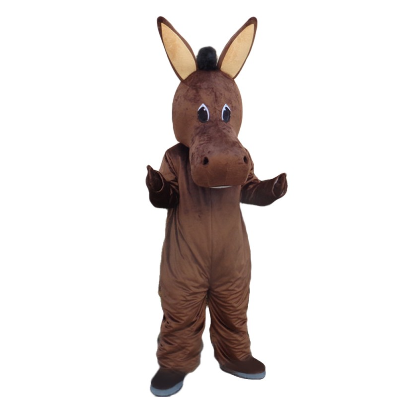 High Quality Brown Donkey Mascot Costume For Birthday Party
