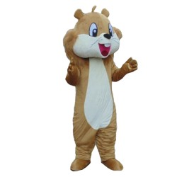 Professional Good Quality Happy Brown Squirrel Mascot Costume