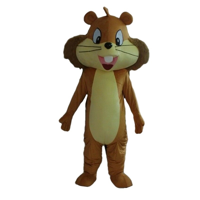 Free Shipping Cute Smiling Squirrel Mascot Costume
