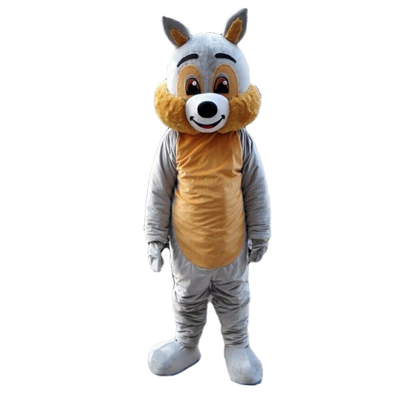 New Arrival Adorable Grey & Brown Squirrel Mascot Costume