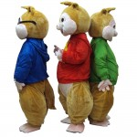 Hot Selling Pleasant Chipmunk Brothers With Colorful Top Mascot Costume