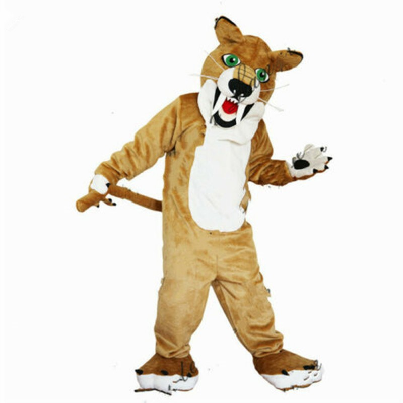 Free Shipping Brown Wolf With Fierce Face Mascot Costume
