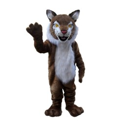 Good Quality Long Fur Friendly Brown Tiger Mascot Costume