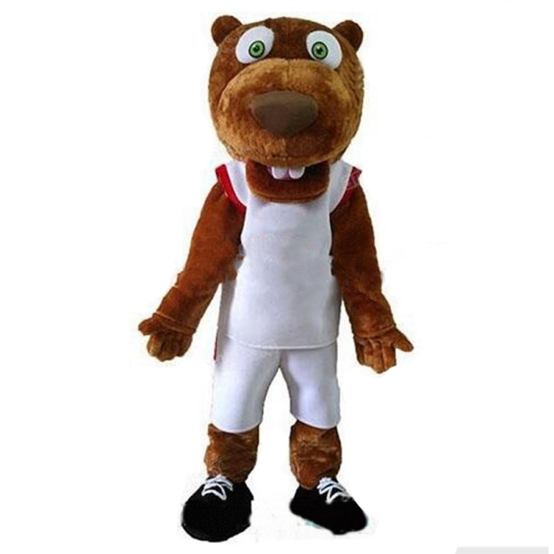 Newest Sports Beaver With Suit Mascot Costume