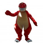 For Celebrations Strong Red Dinosaur Mascot Costume