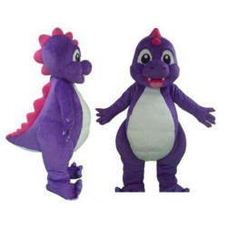 Free Shipping So Lovely Purple Dinosaur Mascot Costume