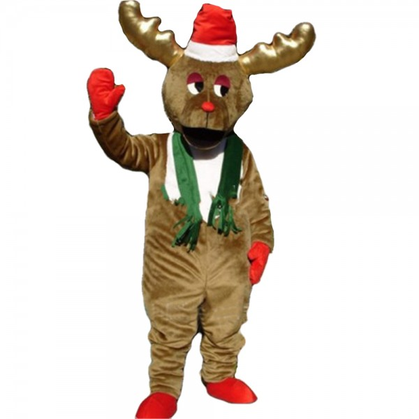 For Christmas Funny Furry Elk Mascot Costume