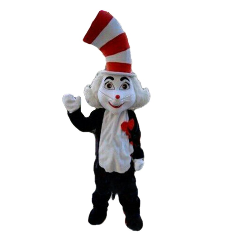 New Version Funny Cat With Tall Hat Mascot Costume