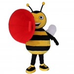 Excited Shouting Bee Mascot Costume