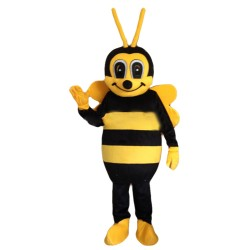 Free Shipping Cute Greeting Bee Mascot Costume