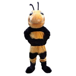 Fancy Tall Plush Bee Mascot Costume