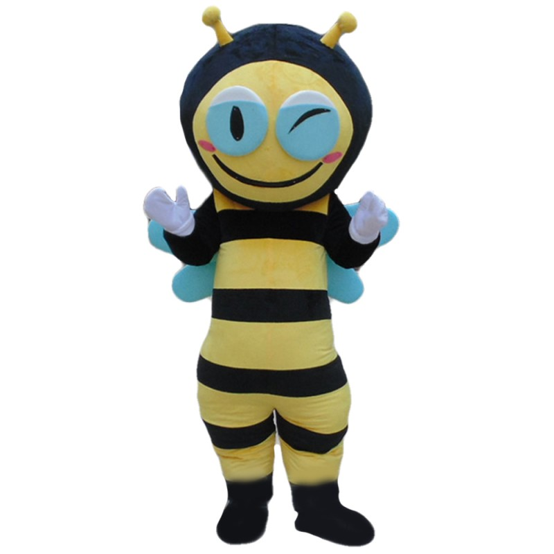 Professional Fancy Smiling Bee Mascot Costume