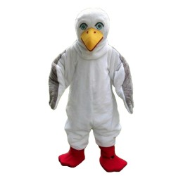 Adult White Bird Mascot Costume For Party Event