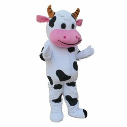 Classic Friendly Cow Mascot Costume