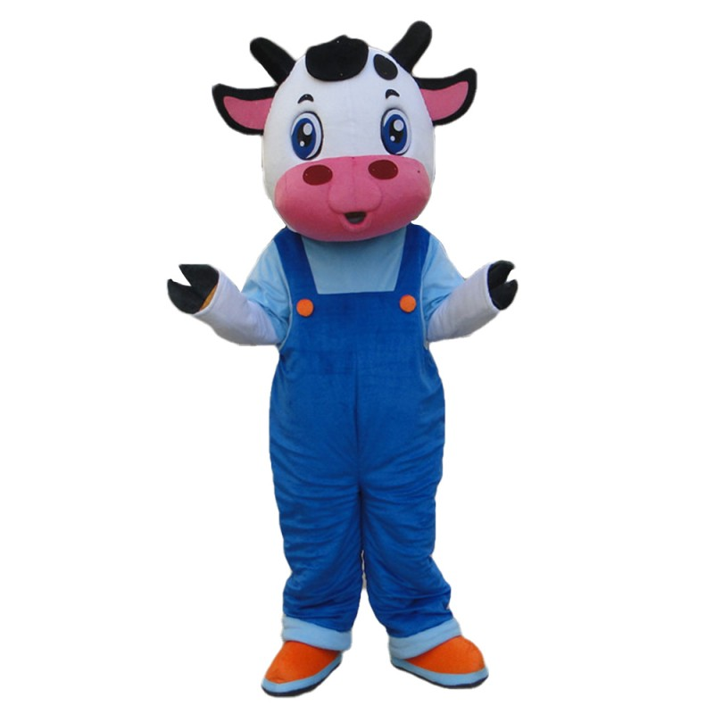 Top Sale Cartoon Cow Brothers With Rompers Mascot Costume
