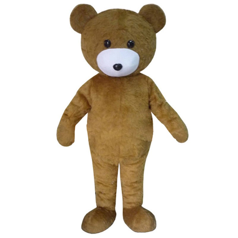 Unisex Tall Brown Bear Mascot Costume