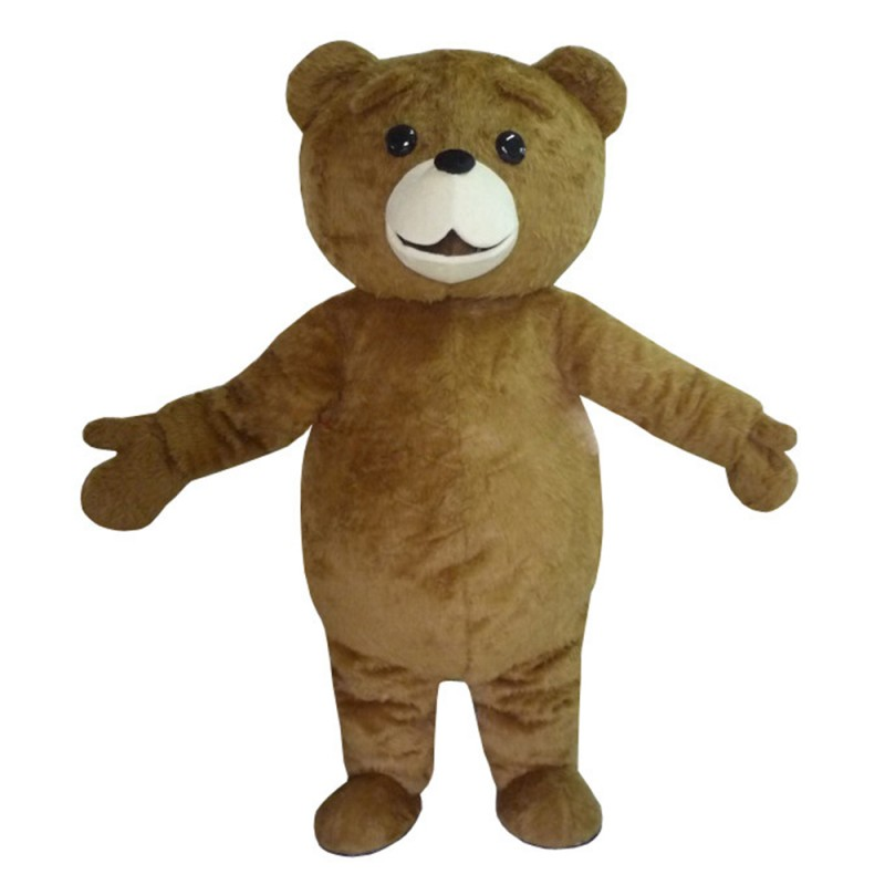 Basic Fat Brown Bear Mascot Costume