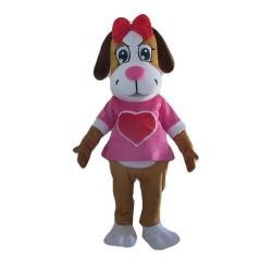 Top Sale Adorable Pink Loving Dog Mascot Costume