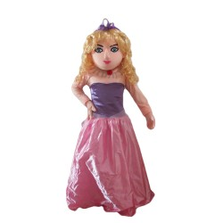 Popular Fancy Barbie Doll With Long Dress Mascot Costume