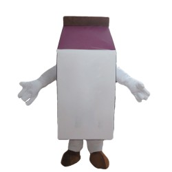 Strawberry Milk Carton Mascot Costume