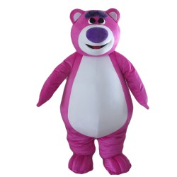 Honest Rose Red Bear Mascot Costume
