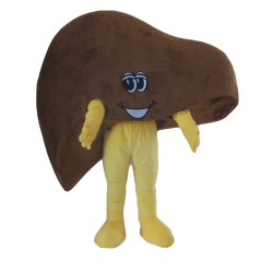 For Halloween Party Cartoon Liver Mascot Costume