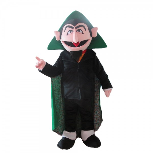 Wicked Witch With Green Cloak Mascot Costume