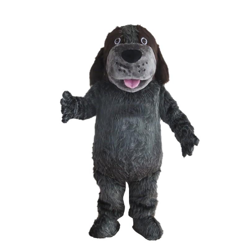 Loyal Brown & Grey Dog Mascot Costume