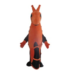 Completed Suit Black & Orange Seahorse Mascot Costume