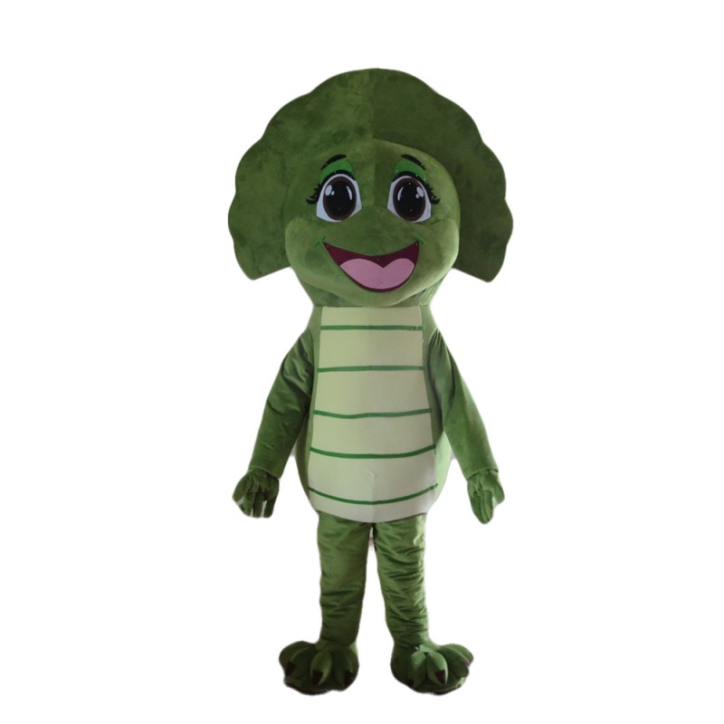 Green Dinosaur Baby With Various Expressions Mascot Costume