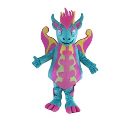 Special Style Blue & Pink Dinosaur Mascot Costume