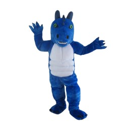 Fancy Blue Monster Mascot Costume