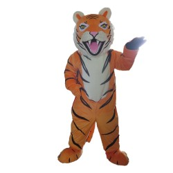 Powerful Plush Tiger Mascot Costume