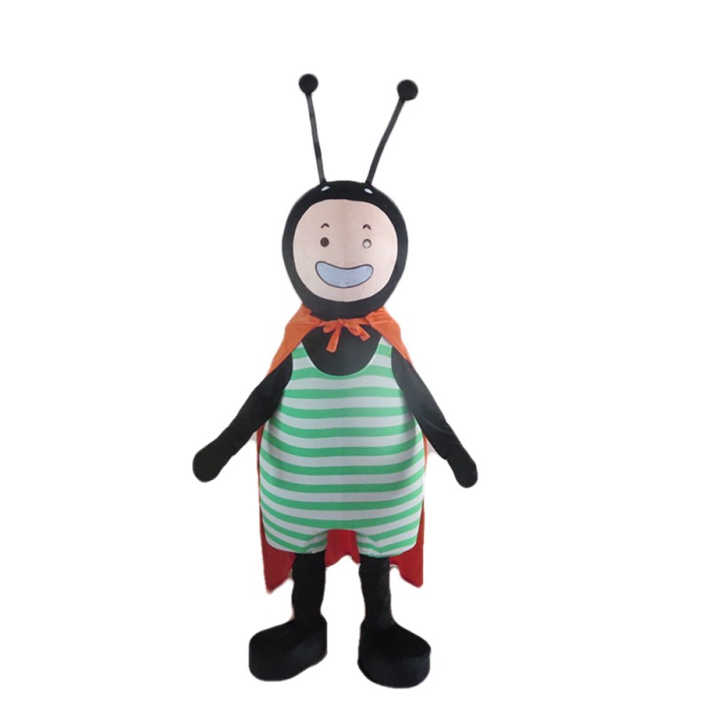 Green Striped And Red Spotted Ant Mascot Costume