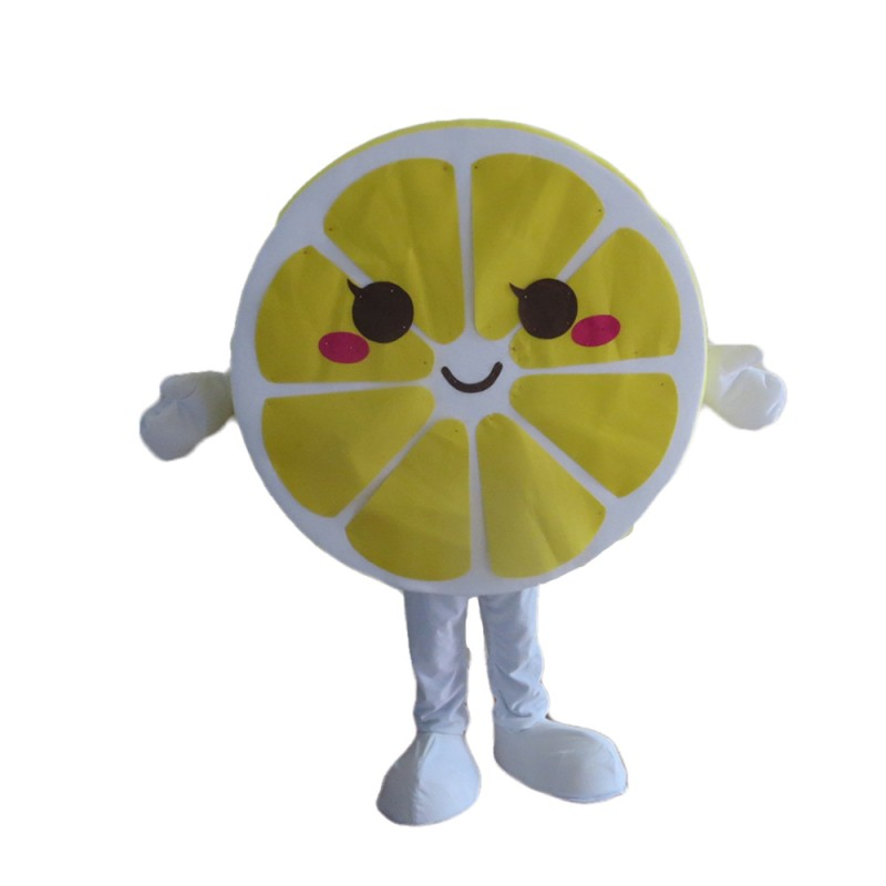 New Cartoon Yellow Lemon Slices Mascot Costume