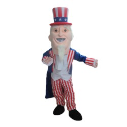 Uncle Sam With Striped Set Mascot Costume