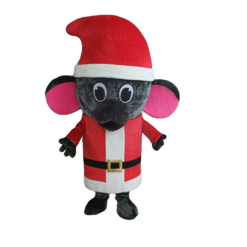 Funny Grey Christmas Mouse Mascot Costume