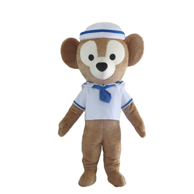 Teddy Bear With Sailor Suit And Hat Mascot Costume