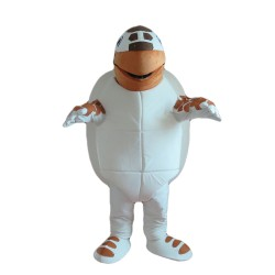 Slow Cartoon Brown & White Turtle Mascot Costume