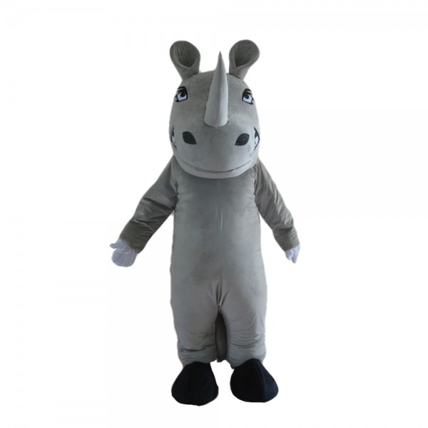Soft Lovely Grey Rhino Mascot Costume