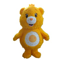 Warm Yellow Sunshine Bear Mascot Costume