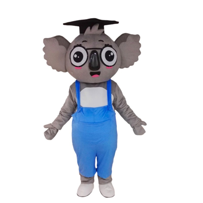 Bachelor Koala With Blue Rompers Mascot Costume